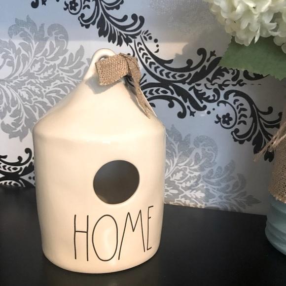 """NWT Rae Dunn ceramic birdhouse """"home"""""""